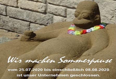 Wir machen Sommerpause vom 25.07. bis 08.08.2020 - Ihr Team von Friedrich Merzig - DIE BADGESTALTER